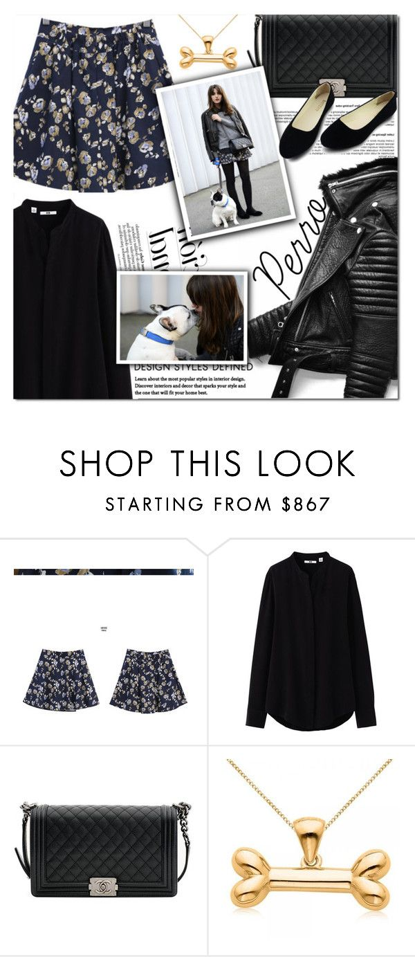 """Love Perro"" by andrepais ❤ liked on Polyvore featuring MyFiona, Uniqlo, Chanel and Allurez"