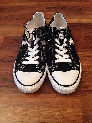 ded454cbace1 NEW Women s Converse One Star Dx Ox Black Shoe Oxford Size 6 6.5 7 7.5 10
