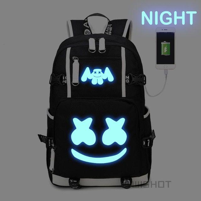 DJ Marshmello Marshmallow Pencil Case Purse Pencilcase Shoulder Bag Backpack