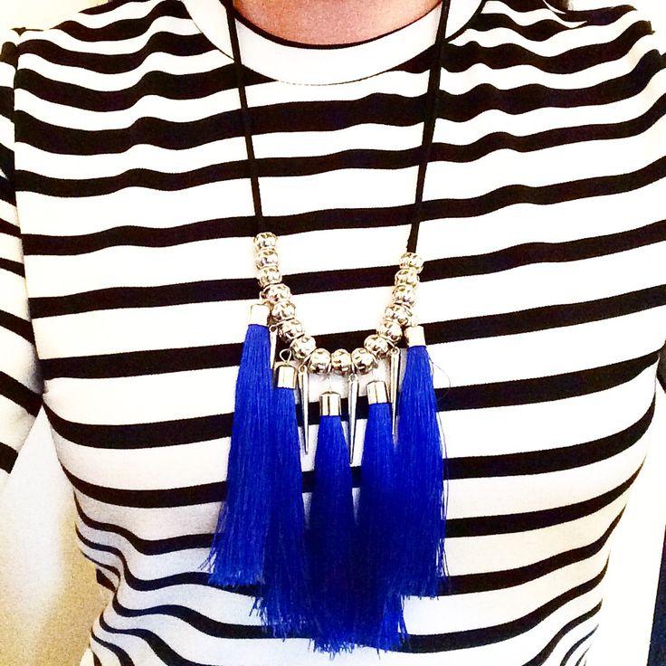 Statement Necklace, Blue Necklace