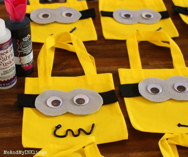 Turn plain yellow bags into adorable Minion Party Bags! Stuff them full of fun minion-themed treats and favors that your...