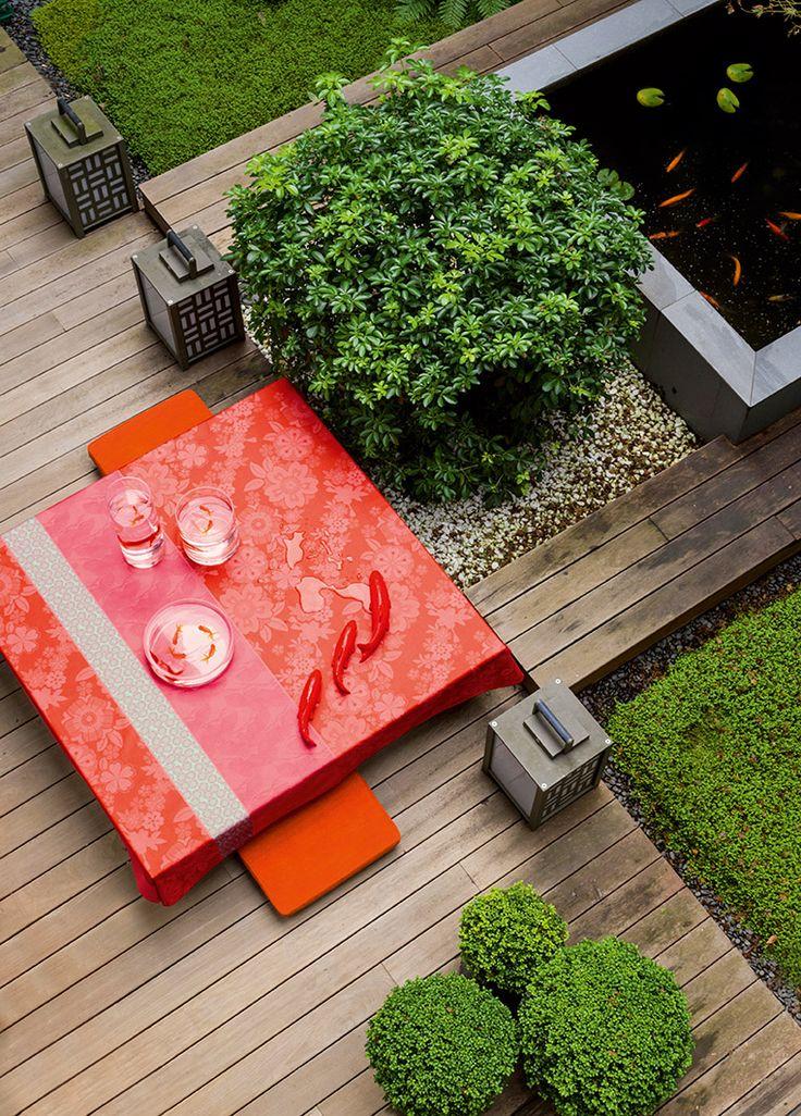 Nappe Sakura Camélia Rouge