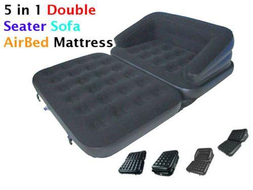 Nuevo 5 en 1 inflable doble con particulas pulverizadas for Colchon sofa cama libro