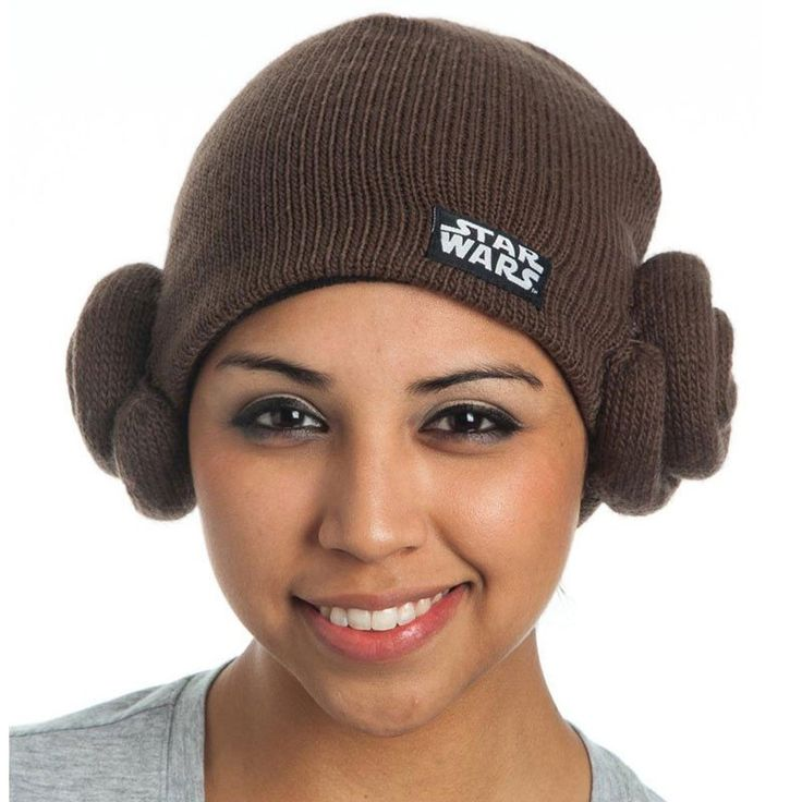 How can you not love this Star Wars Princess Leia Beanie Knit hat in brown. #PrincessLeia #StarWars