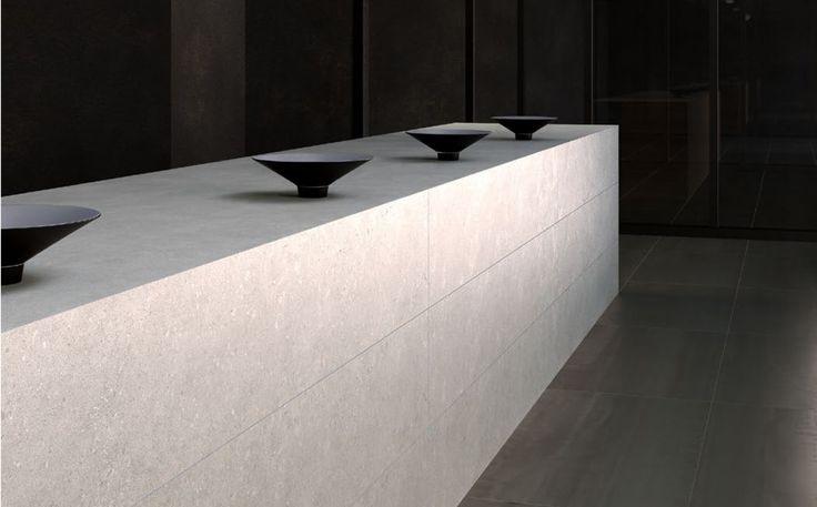 Limewash Pale Grey - Tiles - Surface Gallery #greyfloortiles #greytiles #floortiles #kitchentiles