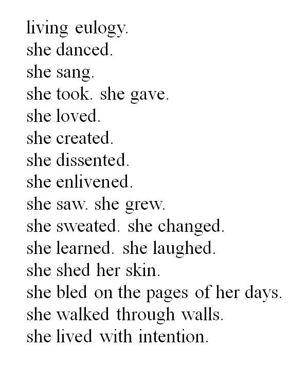 She lived.