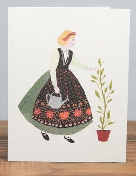 Becca Stadtlander: Print Design, Card Ideas, Greeting Card, Stadtlander Girl
