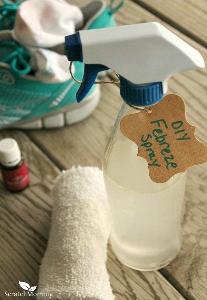 My homemade Febreze® spray is just a few ingredients and it's totally effective at eliminating all kinds of odors. Plus, it's completely non-toxic!