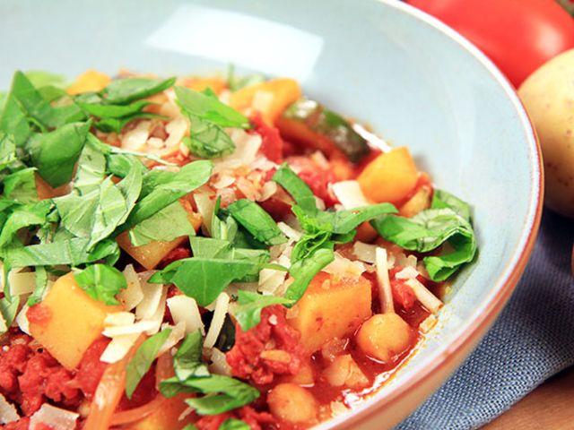 Chorizo- och kikärtsgryta (kock Lisa Lemke)
