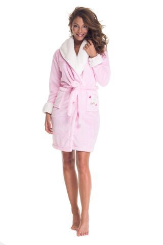 Poppy Sálgalléros köntös - Love Poppy  Pink bathrobe