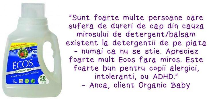 Detergentul BIO Earth Friendly pentru rufe fără miros este ideal pentru persoanele cu sensibilitate la parfum puternic, balsam sau înălbitor. Îl găseşti aici: http://www.organicbaby.ro/detergent-bio-rufe-earth-friendly-products-fara-miros-50-spalari-p644-cat19