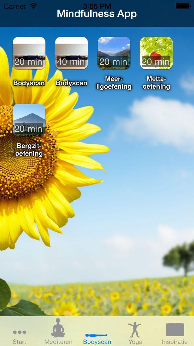Mindfulness App - 14 geleide Mindfulness oefeningen