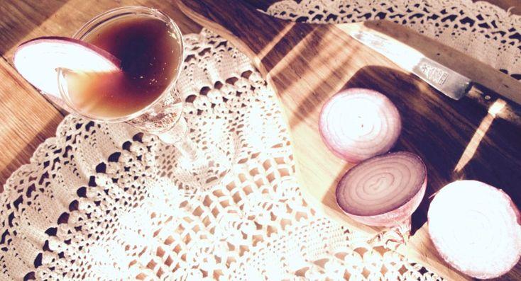 Grootmoeders recept voor uienhoestdrank