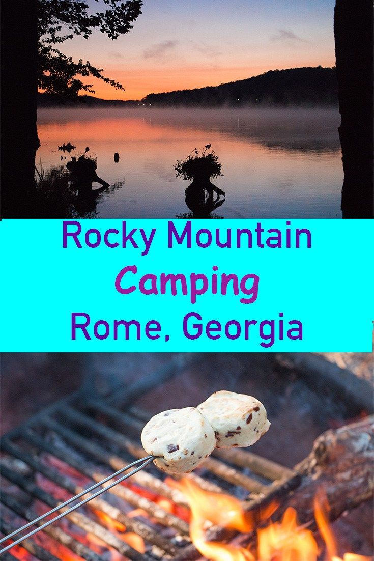 Rocky Mountain Camping Rome, Georgia A great spot for tent or RV camping. Located in the North Georgia mountains this gorgeous camp ground has a lake for fishing, swimming, a play ground, hiking trails and the view in the morning is unreal!