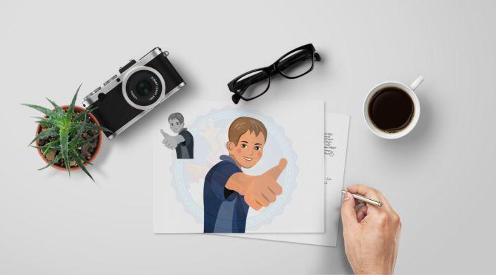 Teen Boy | Middle School Kids | European Boy | Showing Thumb Up