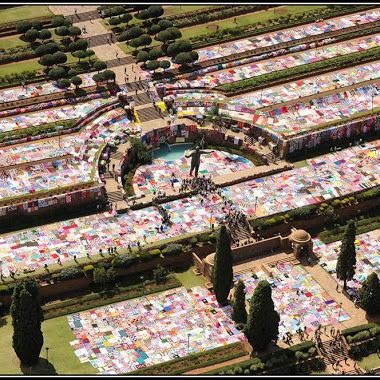 "Guinness World Record for Largest Crochet Blanket Set By ""67 Blankets for Nelson Mandela"" Group"