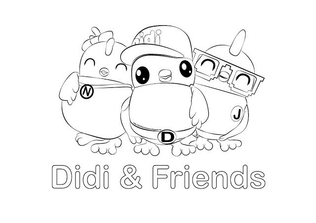 Gambar Mewarna Didi Friends Free Kids Coloring Pages Coloring Books Didi