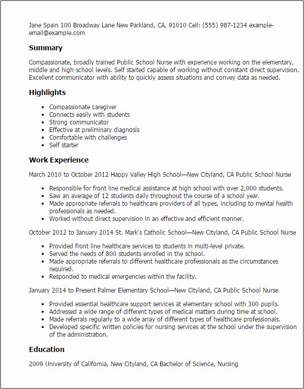 √ 25 new nurse resume template in 2020 with images