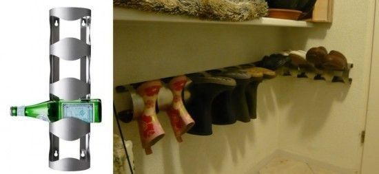 Ikea's wine holder becomes a receptacle for shoes. | 37 Clever Ways To Organize Your Entire Life With Ikea