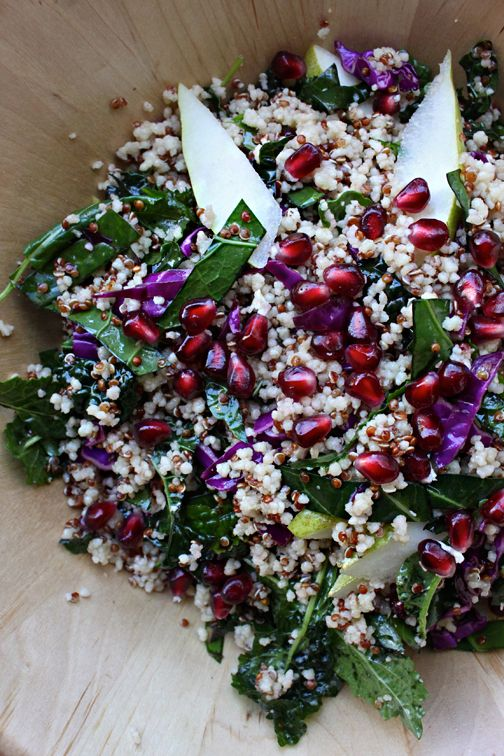 Quinoa, Kale, and Pomegranate Salad