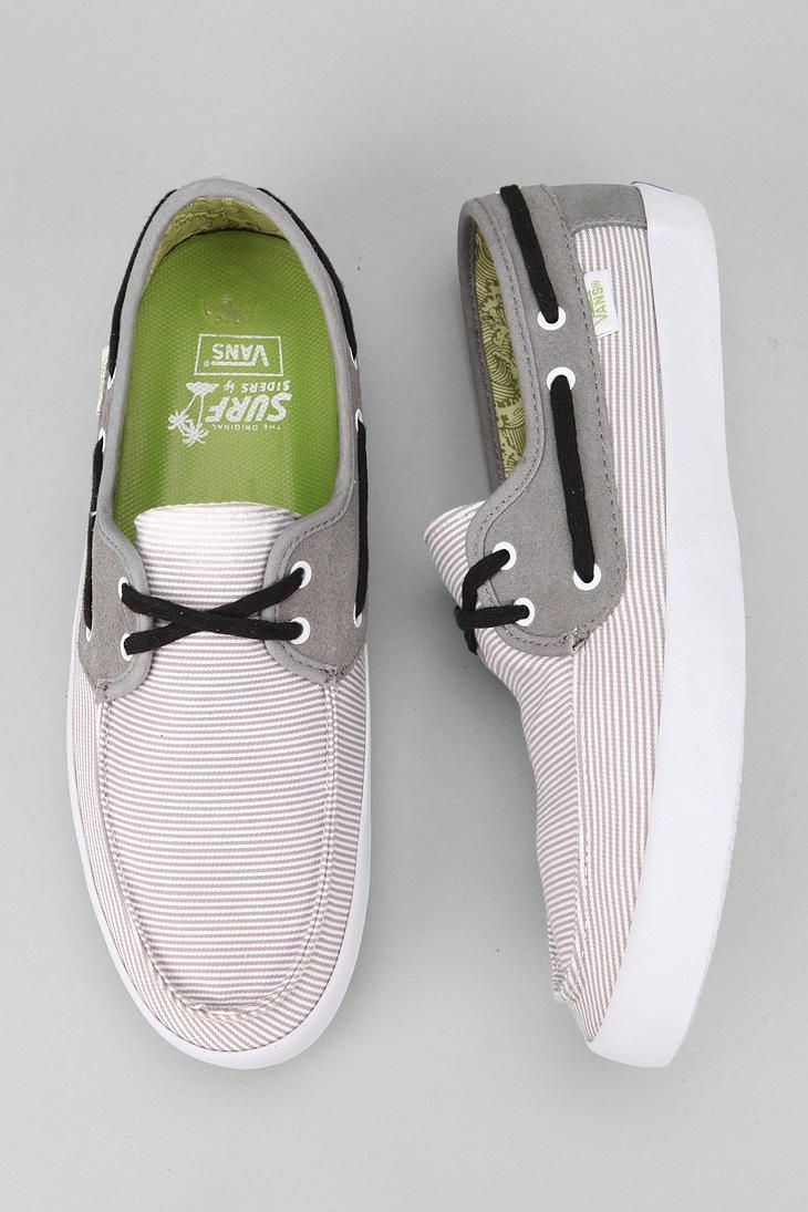 Part of the casual, comfortable, eco-friendly Vans Surf collection. #urbanoutfitters #vans #boatshoes