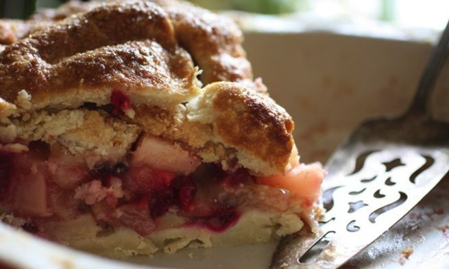 Maple Apple Cranberry Double-Stuffed Pie | Pretty Pies and Tarts | Pi ...