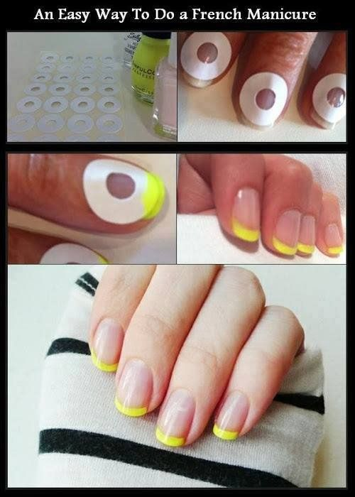 Easy way to do French manicure