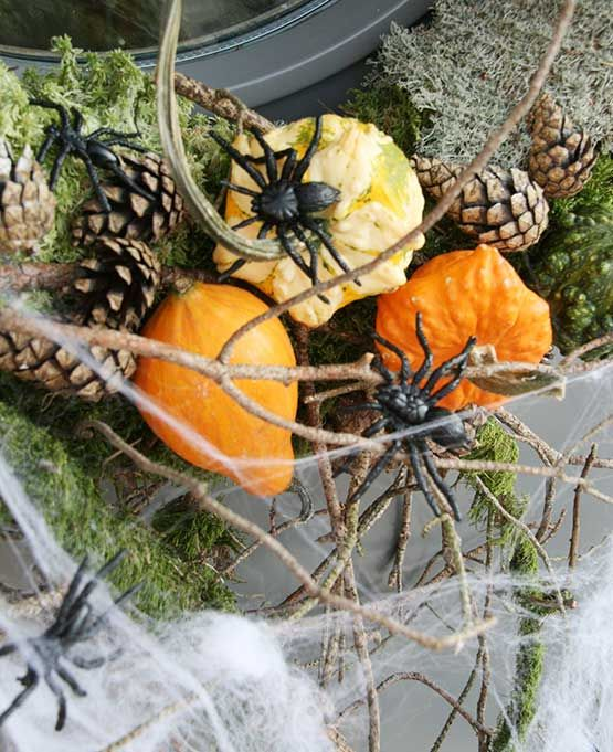 Halloweenpimpa höstkransen. FloristUlrik.