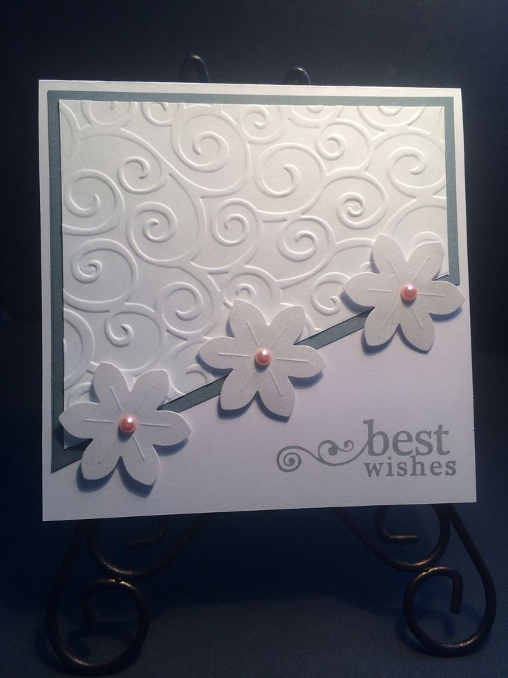 Best wishes wedding or engagement card, in bridal white, gray and blush pink pearls.