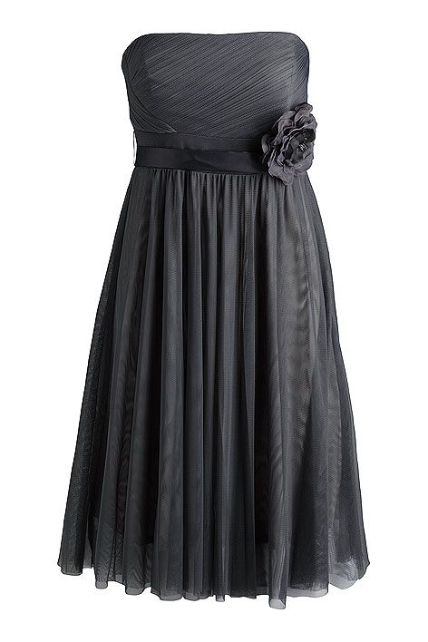 grey dress by esprit  I want my colors for my wedding to be this very dark charcoal gray and a light pink or an eggshell creme.
