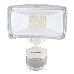 LEPOWER 2500LM Motion Sensor Lights, 28W LED Outdoor Security Light, 6000K, IP65 Waterproof, Adjustable Head Flood Light with 2 Modes Automatic and Permanent on, for Entryways, Stairs, Yard and Garage
