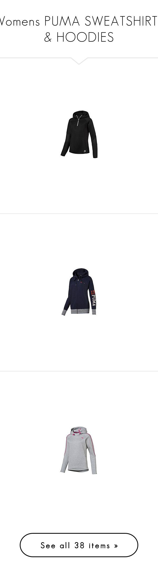 """Womens PUMA SWEATSHIRTS & HOODIES"" by tynabrookler on Polyvore featuring activewear, activewear jackets, track top, tracksuit jacket, track jacket, warm up jackets e ferrari"