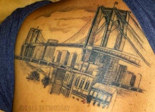 25 best ideas about bridge tattoo on pinterest skyline for Tattoo shops in chattanooga