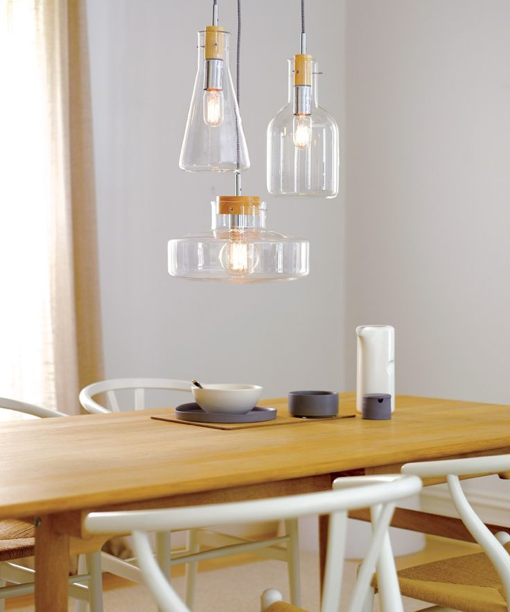 Lab 1 Light Pendant with 330mm Bowl Shaped Glass Shade