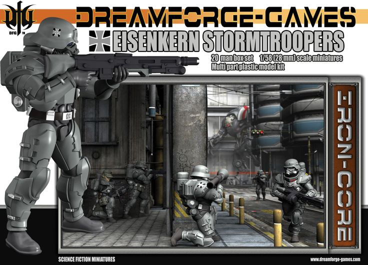 Eisenkern Stormtroopers (20 man set) from DreamForge-Games