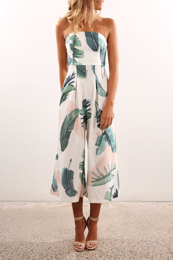 Polynesian Jumpsuit White Floral   Women's   Jean Jail   Clothes Online   Shoes   Womens Fashion   Mens Fashion