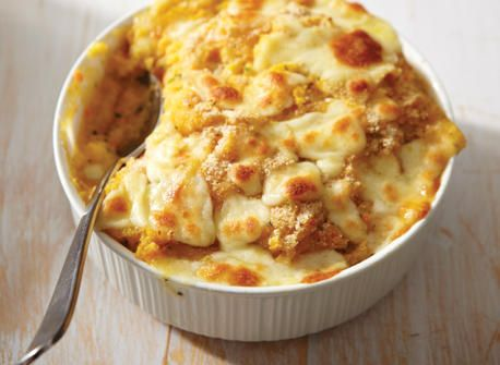 Winter vegetable mash with Provolone
