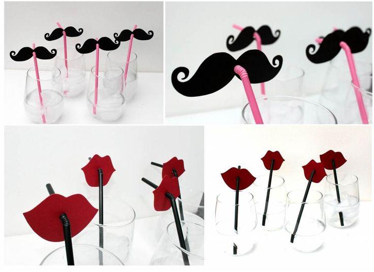 Verres customisés moustaches et red lipstick    http://www.astuces-de-maman.fr/wp-content/uploads/photobooth-moustache.jpg