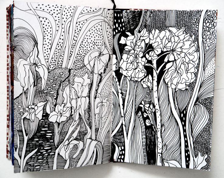 The #sketchbook of Helen Wells. Pen drawing