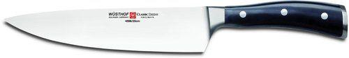 Wusthof Classic Ikon 8-Inch Cook's Knife, Black