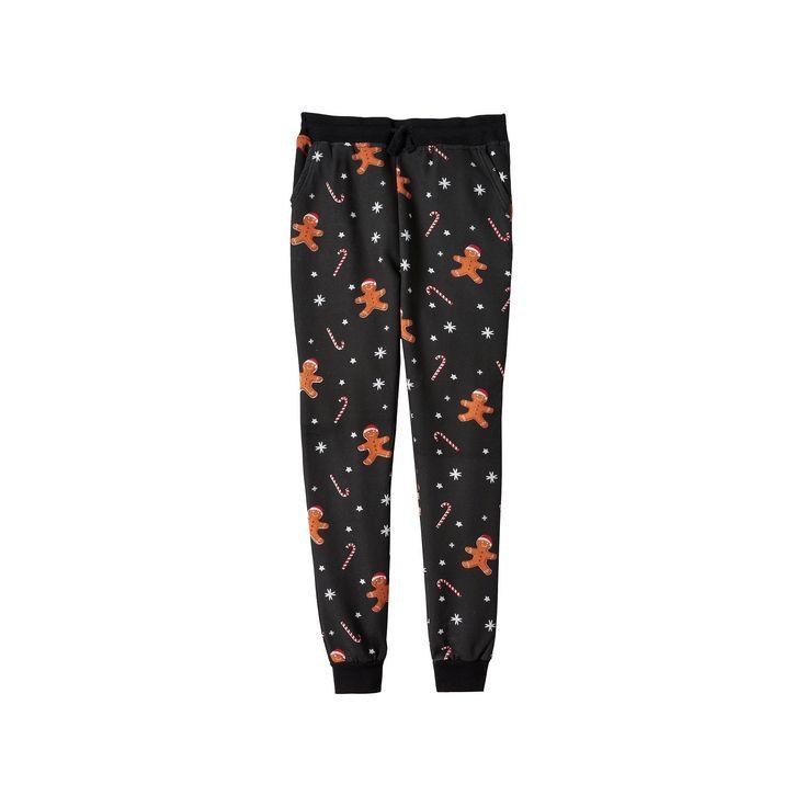 Boys 8-20 Hollywood Jeans Christmas Fleece Jogger Pants, Boy's, Size: L(14/16), Black