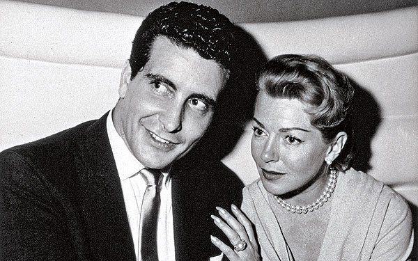 """Lana Turner & Johnny Stompanato """"The goddess and the gangster"""" carried on a high-profile and ultimately sordid affair in the late '50s. But it ended violently one night in 1958, when Turner's 14-year-old daughter grabbed a kitchen knife and stabbed and killed Stompanato in defense of her mother. While the media went wild, a coroner ruled the death a """"justifiable homicide."""""""