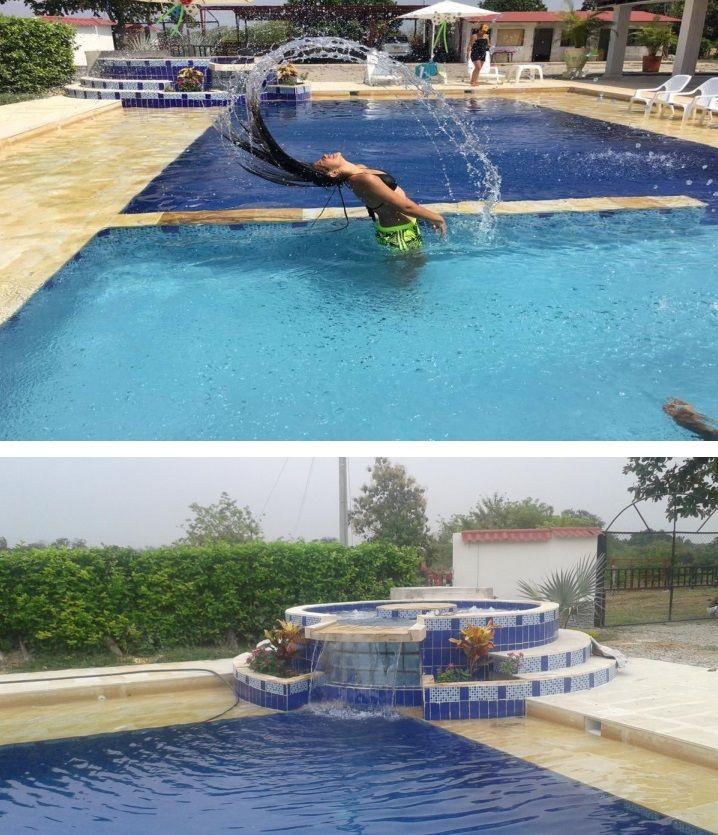 Las 25 mejores ideas sobre cascada de la piscina en for Piscinas con jacuzzi y cascada