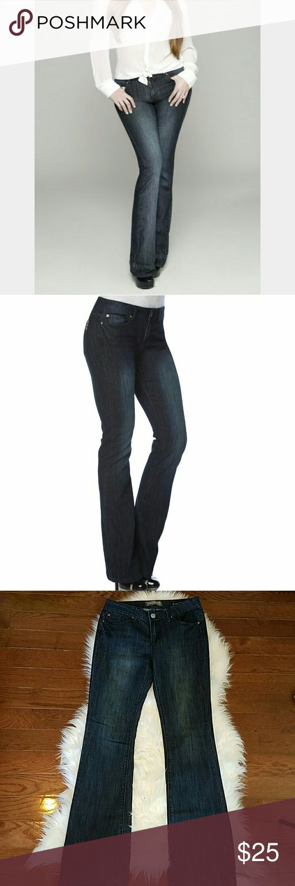 "KARDASHIAN KOLLECTION The Khloe Curvy Bootcut KARDASHIAN KOLLECTION The Khloe Curvy Bootcut Jeans. Excellent condition jeans with some stretch top flatter a curvy figure.  66% cotton,  31% polyester,  1% elastane,  2% other  Size 8, Inseam 33"" , Waist 15 1/2"", Rise 9"" Kardashian Kollection Jeans Boot Cut"