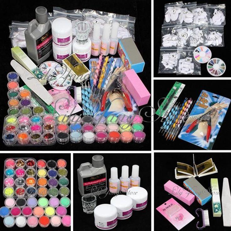 42 Acrylic Nail kit set