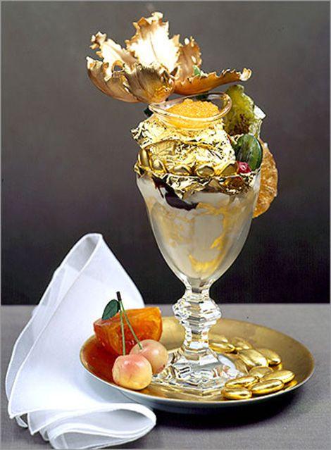Golden Opulence Sundae World's Most Expensive Ice Cream Sundae costs $1,000