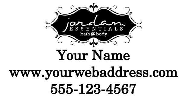 "Jordan Essentials  Decal 12x24""  Black is cut in white.  For custom orders email us at melissa@imagineitvinyl.ca"