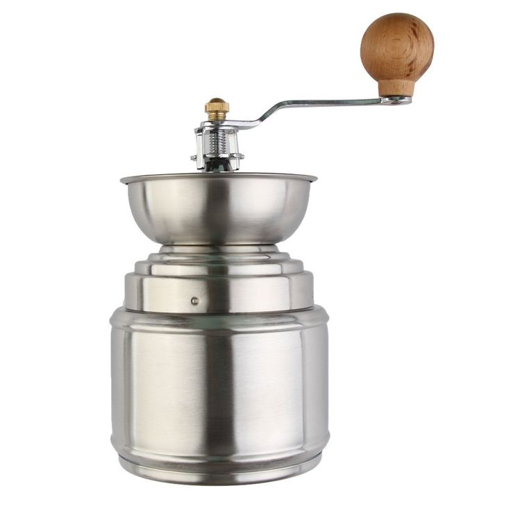 XHHOME Manual Hand Crank Coffee Grinder Stainless Steel Frame with Mill Ceramic Burr Grinder -- You can find out more details at the link of the image.