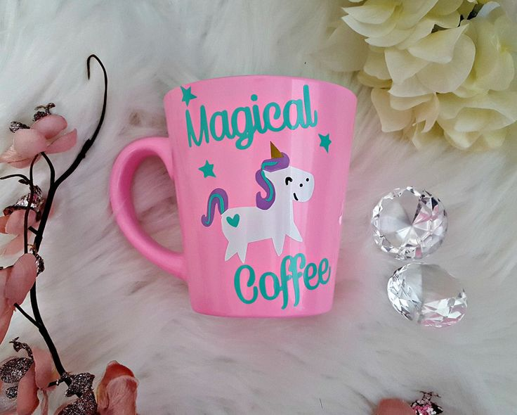 Unicorn Mug, Unicorn Gift, Funny Coffee Mug, Pink Coffee Mug, Unicorn Coffee, Magical Coffee, Light Pink Mug, Unicorn Decal, Unicorn Quote by LoveInTheCityShop on Etsy https://www.etsy.com/ca/listing/504615702/unicorn-mug-unicorn-gift-funny-coffee