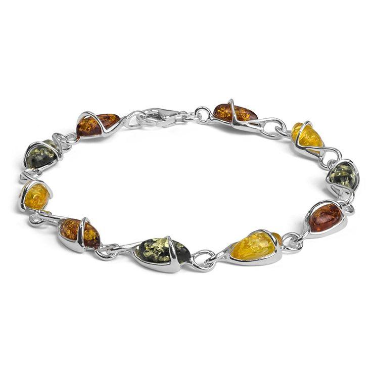 21 best bracelet perle images on pinterest pearl bracelet woman sterling silver multicolor amber drop bracelet 75 inches visit the image link more fandeluxe Gallery